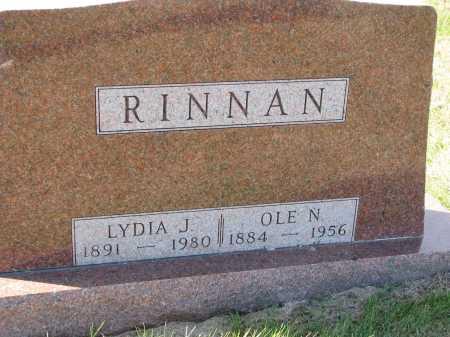 RINNAN, LYDIA J. - Yankton County, South Dakota   LYDIA J. RINNAN - South Dakota Gravestone Photos