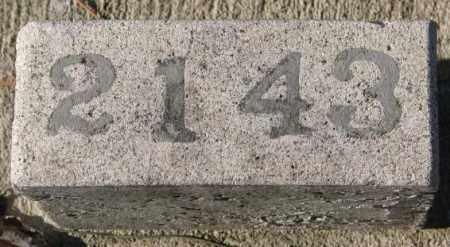 2143, UNKNOWN - Yankton County, South Dakota | UNKNOWN 2143 - South Dakota Gravestone Photos
