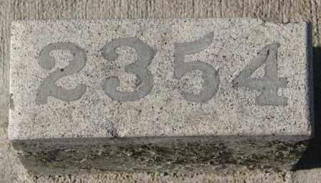 2354, UNKNOWN - Yankton County, South Dakota   UNKNOWN 2354 - South Dakota Gravestone Photos