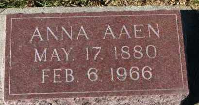 AAEN, ANNA - Yankton County, South Dakota | ANNA AAEN - South Dakota Gravestone Photos