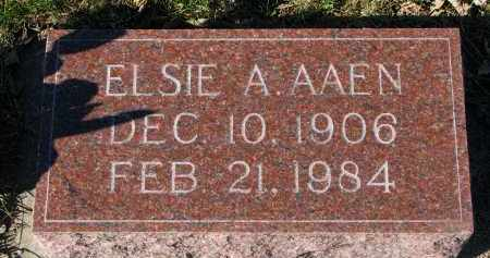 AAEN, ELSIE A. - Yankton County, South Dakota | ELSIE A. AAEN - South Dakota Gravestone Photos