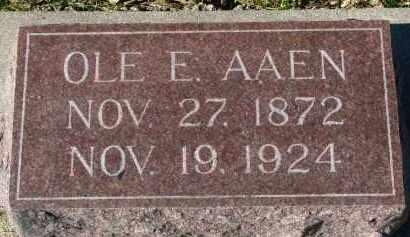 AAEN, OLE E. - Yankton County, South Dakota   OLE E. AAEN - South Dakota Gravestone Photos