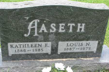 AASETH, KATHLEEN E. - Yankton County, South Dakota | KATHLEEN E. AASETH - South Dakota Gravestone Photos