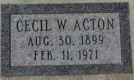 ACTON, CECIL W. - Yankton County, South Dakota   CECIL W. ACTON - South Dakota Gravestone Photos