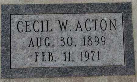 ACTON, CECIL W. - Yankton County, South Dakota | CECIL W. ACTON - South Dakota Gravestone Photos