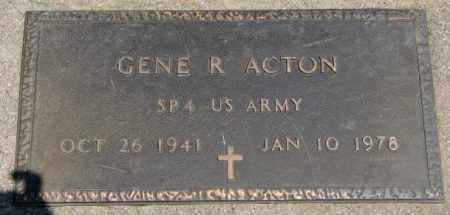 ACTON, GENE R. (MILITARY) - Yankton County, South Dakota | GENE R. (MILITARY) ACTON - South Dakota Gravestone Photos