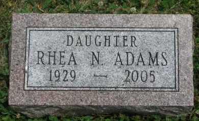 ADAMS, RHEA N. - Yankton County, South Dakota   RHEA N. ADAMS - South Dakota Gravestone Photos