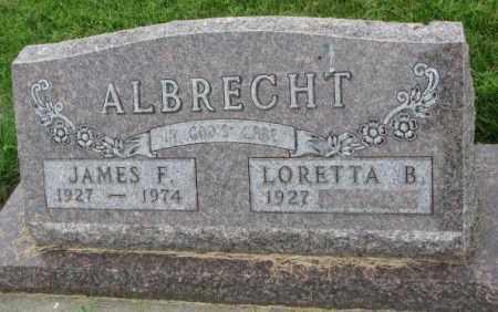 ALBRECHT, JAMES F. - Yankton County, South Dakota   JAMES F. ALBRECHT - South Dakota Gravestone Photos