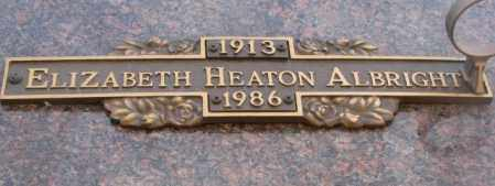 HEATON ALBRIGHT, ELIZABETH - Yankton County, South Dakota | ELIZABETH HEATON ALBRIGHT - South Dakota Gravestone Photos