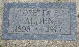 ALDEN, LORETTA F. - Yankton County, South Dakota   LORETTA F. ALDEN - South Dakota Gravestone Photos