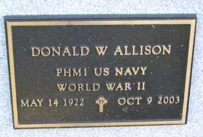 ALLISON, DONALD W. (WW II) - Yankton County, South Dakota | DONALD W. (WW II) ALLISON - South Dakota Gravestone Photos