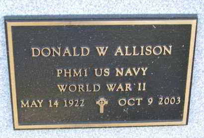 ALLISON, DONALD W. (WW II) - Yankton County, South Dakota | DONALD W. (WW II) ALLISON - South Dakota Gravestone Photos