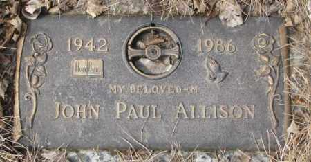ALLISON, JOHN PAUL - Yankton County, South Dakota   JOHN PAUL ALLISON - South Dakota Gravestone Photos