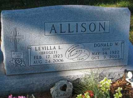BRUGET ALLISON, LEVILLA L. - Yankton County, South Dakota | LEVILLA L. BRUGET ALLISON - South Dakota Gravestone Photos