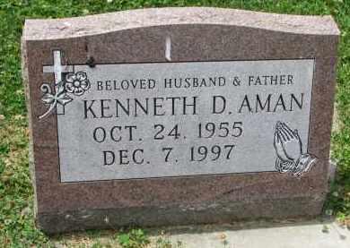 AMAN, KENNETH D. - Yankton County, South Dakota   KENNETH D. AMAN - South Dakota Gravestone Photos