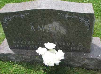 AMAN, MARTHA G. - Yankton County, South Dakota | MARTHA G. AMAN - South Dakota Gravestone Photos