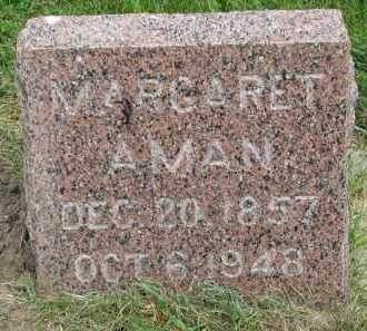 AMAN, MARGARET - Yankton County, South Dakota   MARGARET AMAN - South Dakota Gravestone Photos
