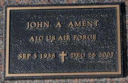 AMENT, JOHN A. (MILITARY) - Yankton County, South Dakota   JOHN A. (MILITARY) AMENT - South Dakota Gravestone Photos