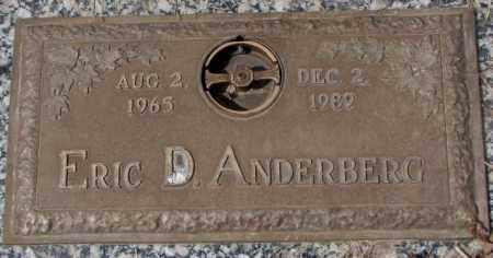 ANDERBERG, ERIC D. - Yankton County, South Dakota | ERIC D. ANDERBERG - South Dakota Gravestone Photos