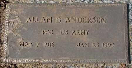 ANDERSEN, ALLAN B. - Yankton County, South Dakota   ALLAN B. ANDERSEN - South Dakota Gravestone Photos