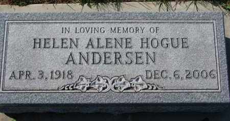 ANDERSEN, HELEN ALENE - Yankton County, South Dakota | HELEN ALENE ANDERSEN - South Dakota Gravestone Photos