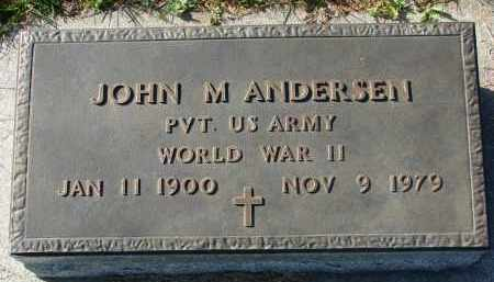 ANDERSEN, JOHN M. (WW II) - Yankton County, South Dakota   JOHN M. (WW II) ANDERSEN - South Dakota Gravestone Photos