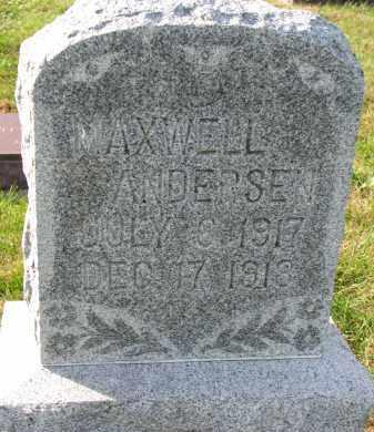 ANDERSEN, MAXWELL - Yankton County, South Dakota | MAXWELL ANDERSEN - South Dakota Gravestone Photos