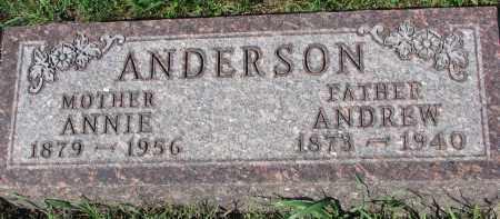 ANDERSON, ANNIE - Yankton County, South Dakota | ANNIE ANDERSON - South Dakota Gravestone Photos