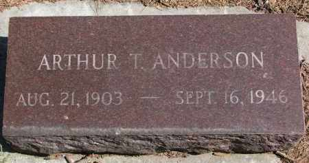 ANDERSON, ARTHUR T. - Yankton County, South Dakota | ARTHUR T. ANDERSON - South Dakota Gravestone Photos