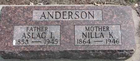 ANDERSON, NILLA K. - Yankton County, South Dakota | NILLA K. ANDERSON - South Dakota Gravestone Photos