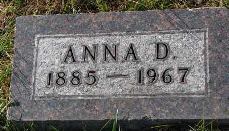ANDERSON, ANNA D. - Yankton County, South Dakota | ANNA D. ANDERSON - South Dakota Gravestone Photos