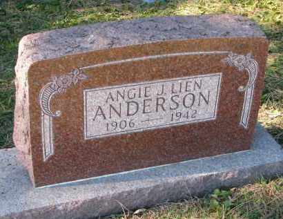 LIEN ANDERSON, ANGIE J. - Yankton County, South Dakota | ANGIE J. LIEN ANDERSON - South Dakota Gravestone Photos
