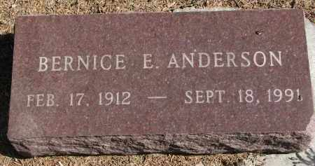 ANDERSON, BERNICE E. - Yankton County, South Dakota | BERNICE E. ANDERSON - South Dakota Gravestone Photos