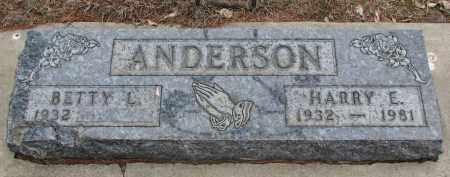 ANDERSON, BETTY L. - Yankton County, South Dakota | BETTY L. ANDERSON - South Dakota Gravestone Photos