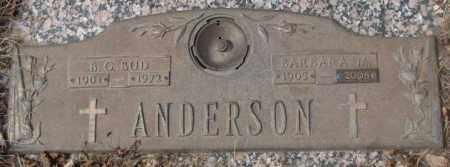 ANDERSON, BARBARA M. - Yankton County, South Dakota | BARBARA M. ANDERSON - South Dakota Gravestone Photos
