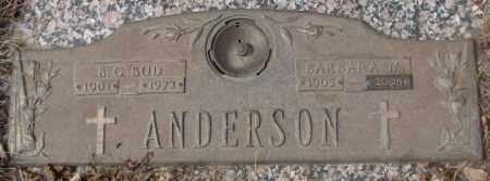 ANDERSON, B.G. BUD - Yankton County, South Dakota | B.G. BUD ANDERSON - South Dakota Gravestone Photos