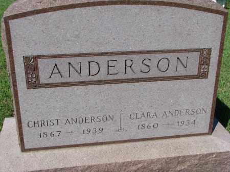 ANDERSON, CLARA - Yankton County, South Dakota | CLARA ANDERSON - South Dakota Gravestone Photos