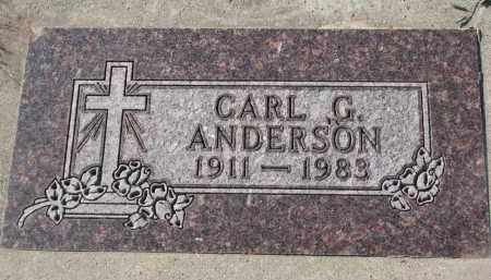 ANDERSON, CARL G. - Yankton County, South Dakota   CARL G. ANDERSON - South Dakota Gravestone Photos