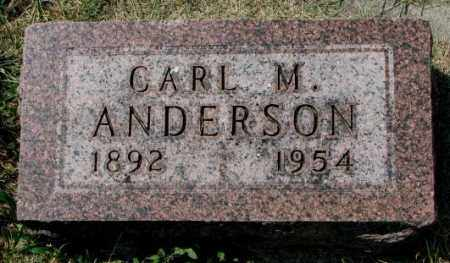 ANDERSON, CARL M. - Yankton County, South Dakota | CARL M. ANDERSON - South Dakota Gravestone Photos