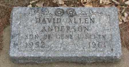 ANDERSON, DAVID ALLEN - Yankton County, South Dakota   DAVID ALLEN ANDERSON - South Dakota Gravestone Photos