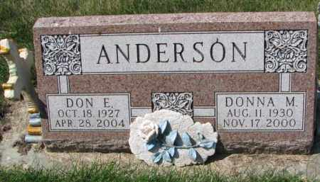 ANDERSON, DONNA M. - Yankton County, South Dakota | DONNA M. ANDERSON - South Dakota Gravestone Photos