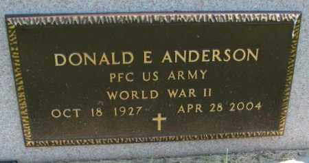 ANDERSON, DONALD E. (WW II) - Yankton County, South Dakota | DONALD E. (WW II) ANDERSON - South Dakota Gravestone Photos