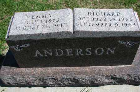 ANDERSON, RICHARD - Yankton County, South Dakota | RICHARD ANDERSON - South Dakota Gravestone Photos