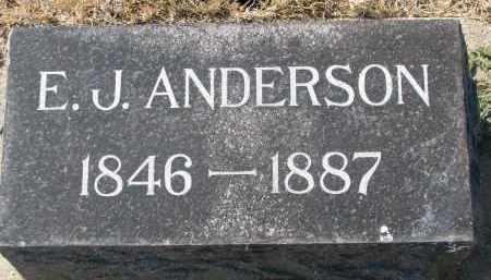 ANDERSON, E.J. - Yankton County, South Dakota | E.J. ANDERSON - South Dakota Gravestone Photos