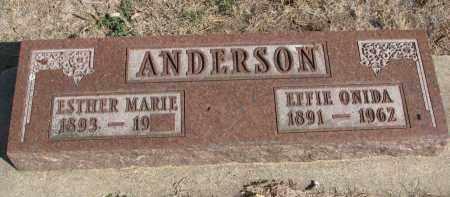 ANDERSON, EFFIE ONIDA - Yankton County, South Dakota | EFFIE ONIDA ANDERSON - South Dakota Gravestone Photos