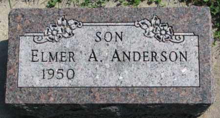 ANDERSON, ELMER A. - Yankton County, South Dakota | ELMER A. ANDERSON - South Dakota Gravestone Photos