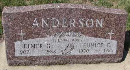ANDERSON, ELMER G. - Yankton County, South Dakota | ELMER G. ANDERSON - South Dakota Gravestone Photos