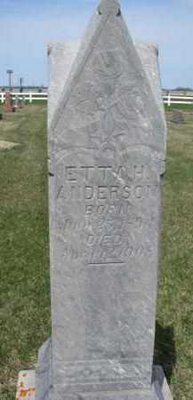 ANDERSON, ETTA H. - Yankton County, South Dakota | ETTA H. ANDERSON - South Dakota Gravestone Photos