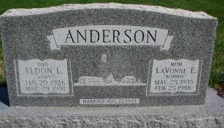 ANDERSON, ELDON L. - Yankton County, South Dakota | ELDON L. ANDERSON - South Dakota Gravestone Photos