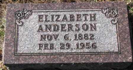 ANDERSON, ELIZABETH - Yankton County, South Dakota | ELIZABETH ANDERSON - South Dakota Gravestone Photos